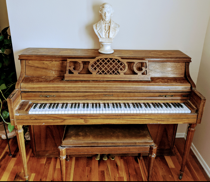 FREE Kimball Artist Console Piano Schwander Model Image 1