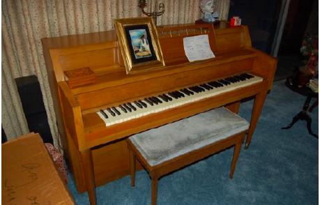 Maple Upright Piano Image 1